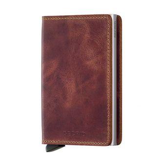 Secrid Slimwallet Vintage liten plånbok i skinn och metall