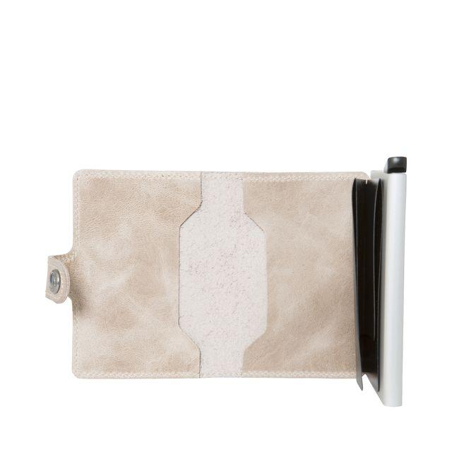 Secrid Miniwallet liten plånbok i skinn och metall