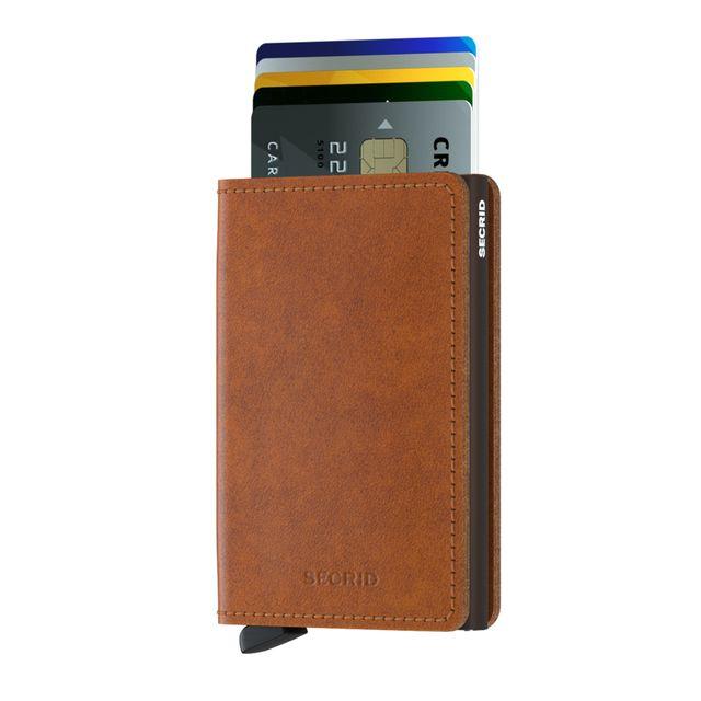 Secrid Slimwallet liten plånbok i skinn och metall