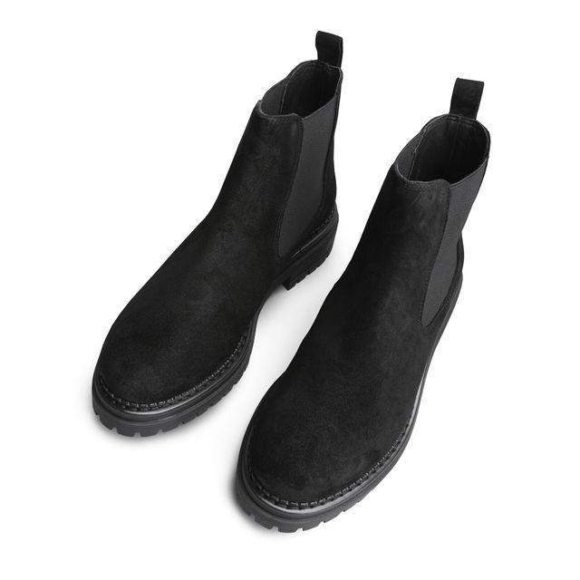Rizzo Astrid Chunky Chelsea boots i mocka, dam