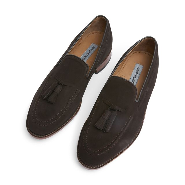 Johnston & Murphy Melton loafers i mocka, herr