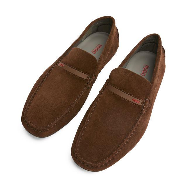Hugo Boss Dandy Moccasin loafers i mocka, herr