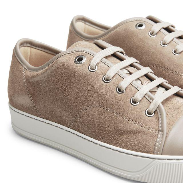 Lanvin Nappa Cap-Toe sneakers i mocka, herr