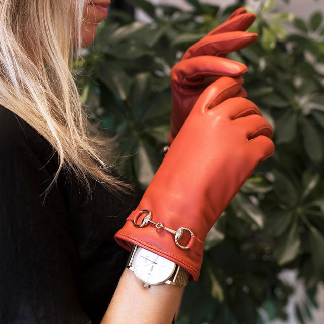 Handskmakaren Afragola handskar i skinn, dam