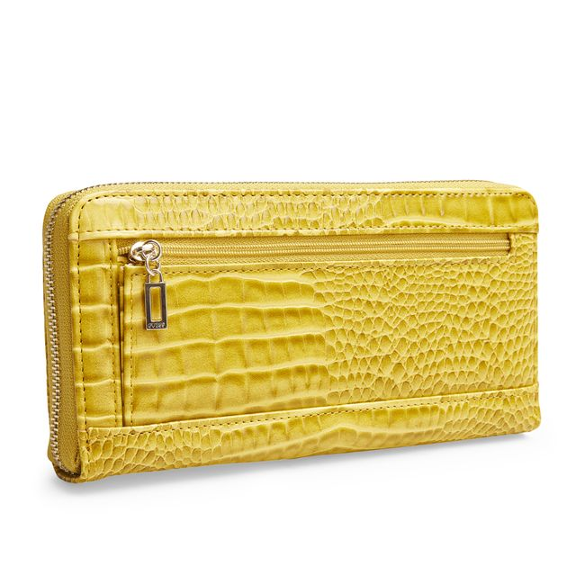 Guess Kamryn Zip Around Croco clutch