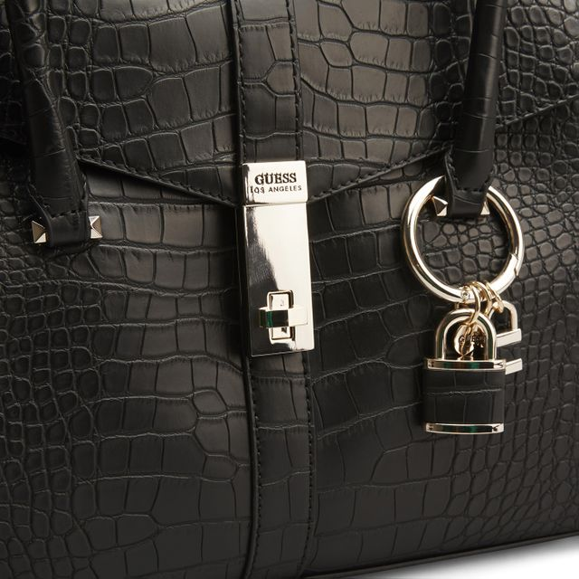 Guess Asher Flap Satchel Croco handväska