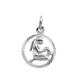 Vackert jungfrun hängsmycke i äkta silver.