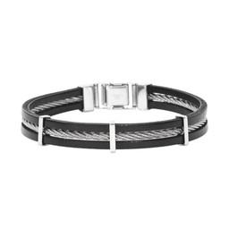 Armband läder och stål