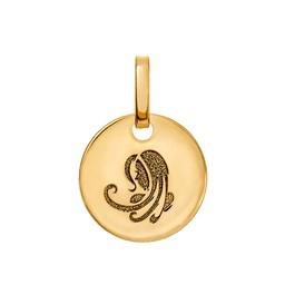 Vackert jungfrun hängsmycke i 18K guld.