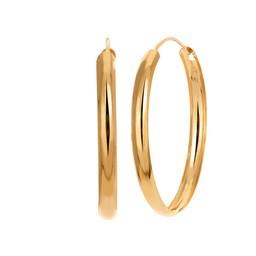 Örhängen i 18K guld 30mm