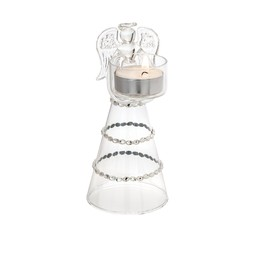Ljushållare ängel i glas 15 cm