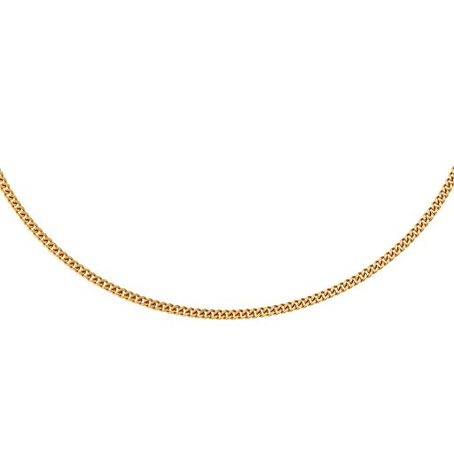 Kedja i 18K guld 60cm