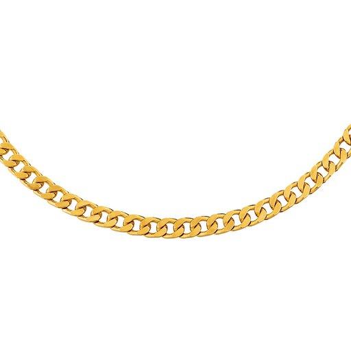Pansarlänk i 18K guld 55 cm