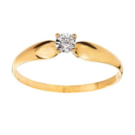 Diamantring 1 18K guld