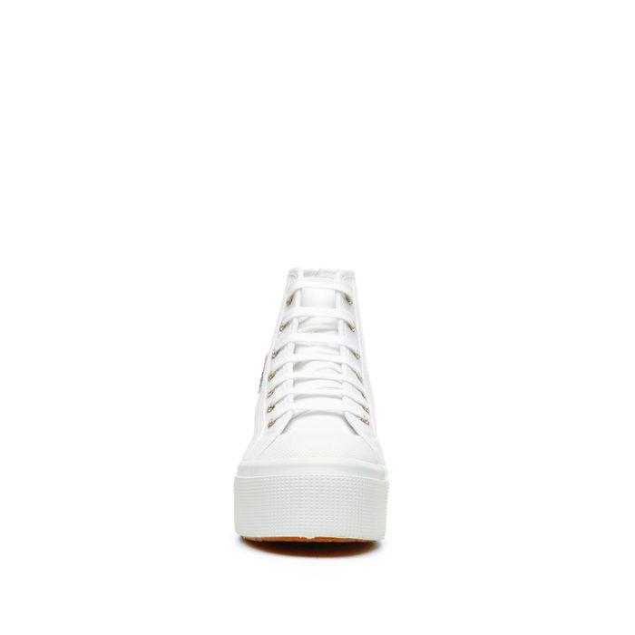 2705 HI TOP WHITE-PALE GOLD