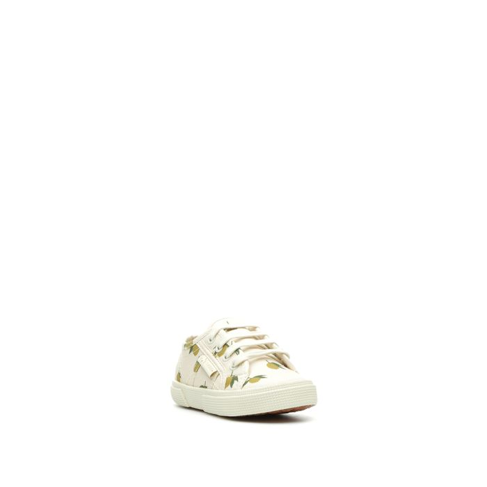 2750 SUPERGA X KONGES SLØJD COTFANT BUMP WHITE/YELLOW LEMON