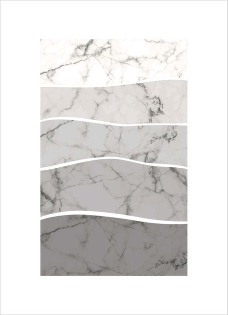 Abstract grey marble pattern poster