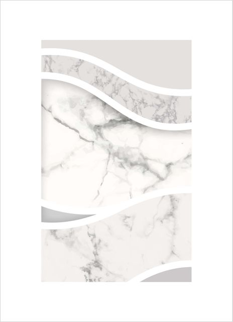Abstract grey swirl marble poster