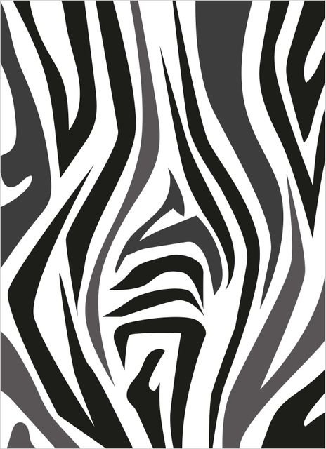 Abstract pattern zebra poster