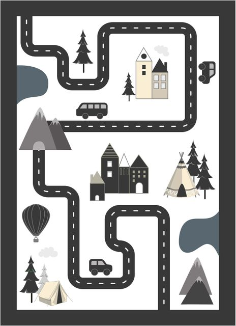 Adventure road white poster