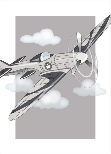 Airplane in the air poster