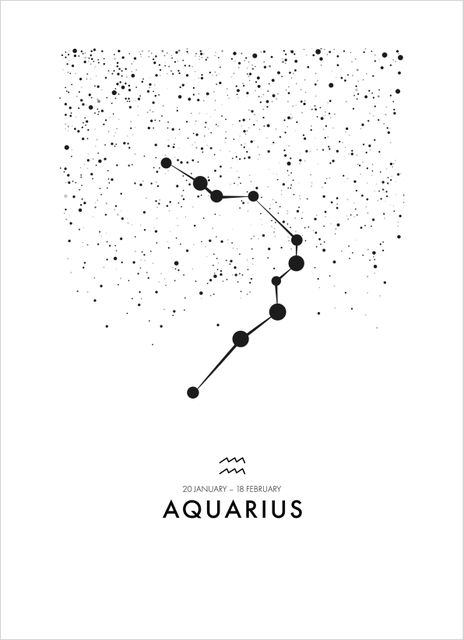 Poster vattumannen/Aquarius poster