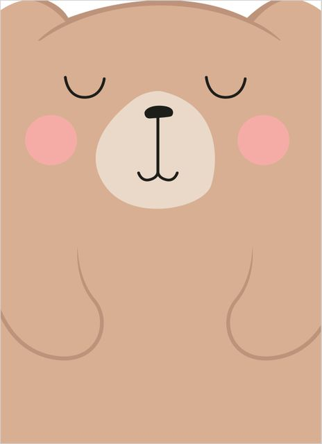 Bear close-up poster
