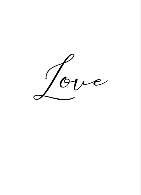 Beautiful love text poster