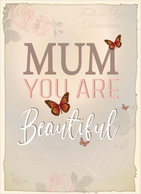 Beautiful mum poster