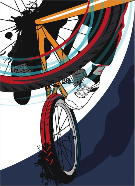 Bike wheel close up poster