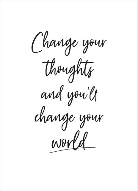 Change your thoughts poster