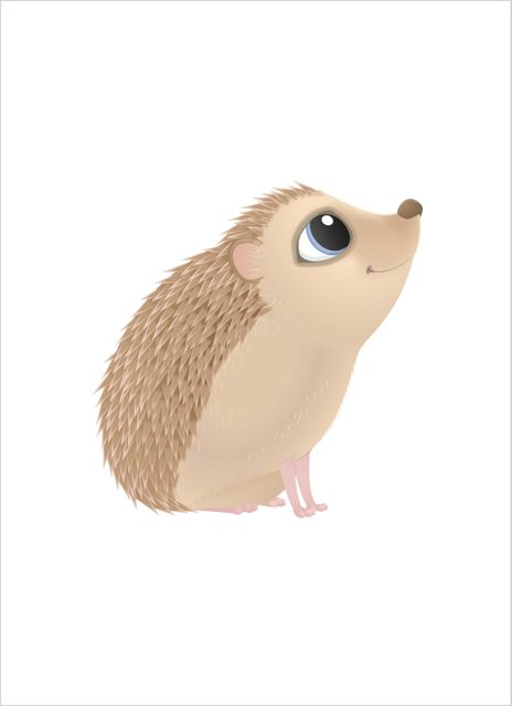 Cute hedgehog poster
