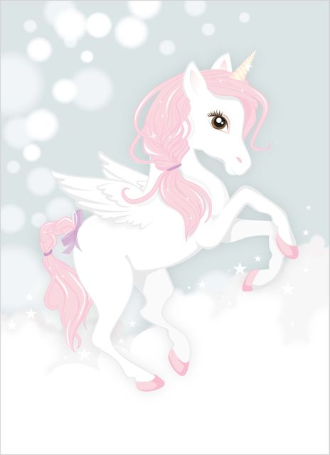 Fairy unicorn poster