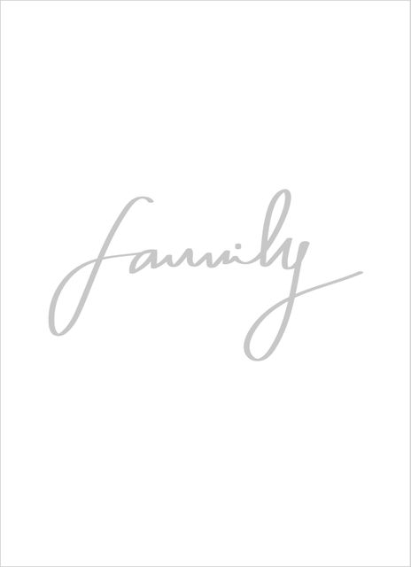 Family grey text