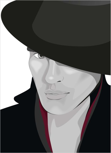Fashion man in hat poster