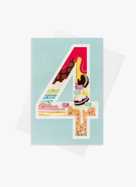 Födelsedagskort 4 år