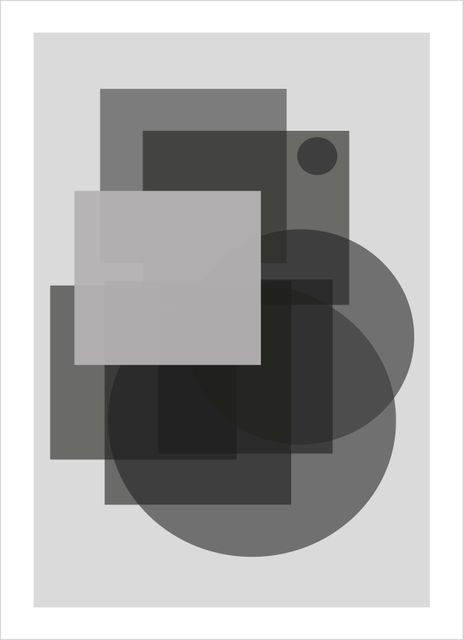 Graphic grey no3 poster