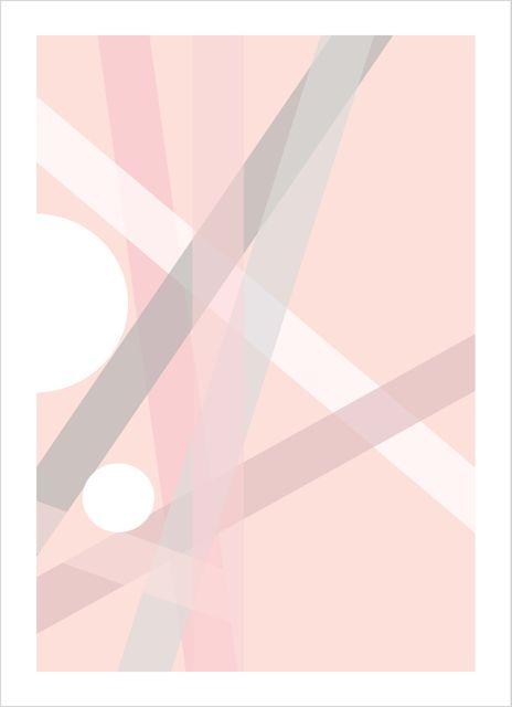 Graphic pink no2 poster