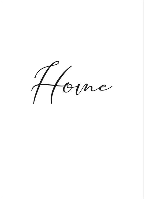 Home text poster