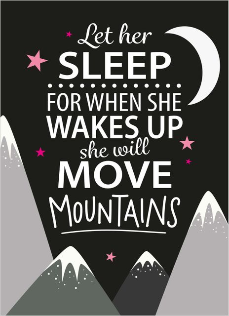 Let her sleep text poster