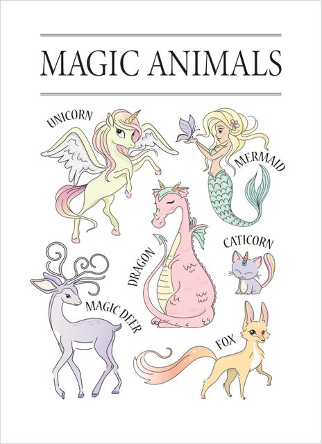 Magical animals poster