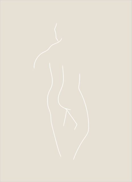 Man body beige poster