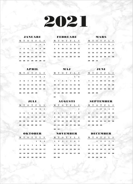 Marble calendar poster