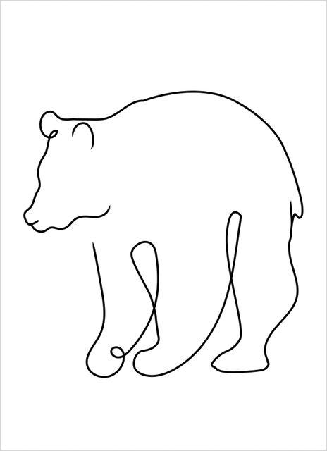 Outline bear poster