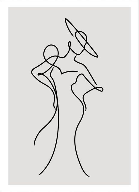 Outline female poster