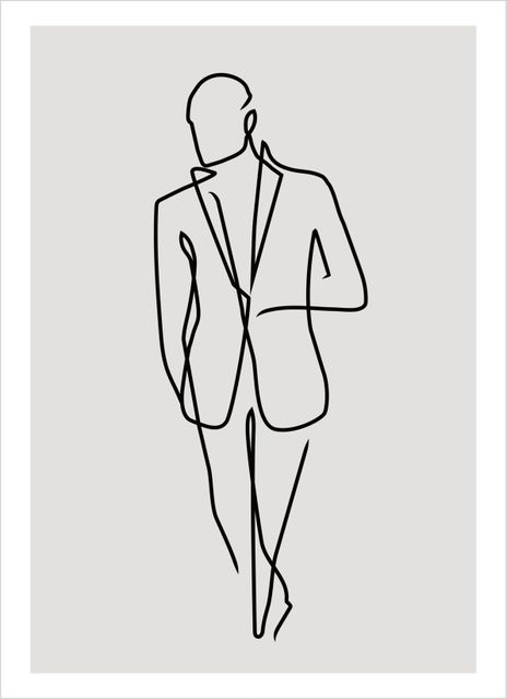 Outline male poster