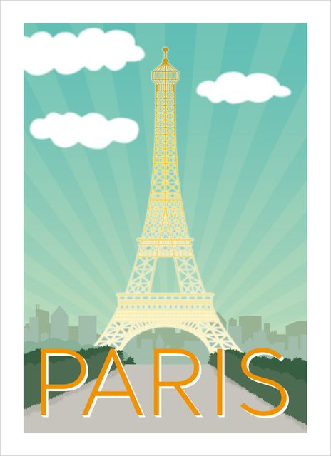Paris retro poster