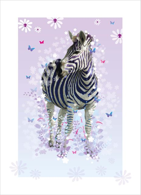 Purple zebra poster