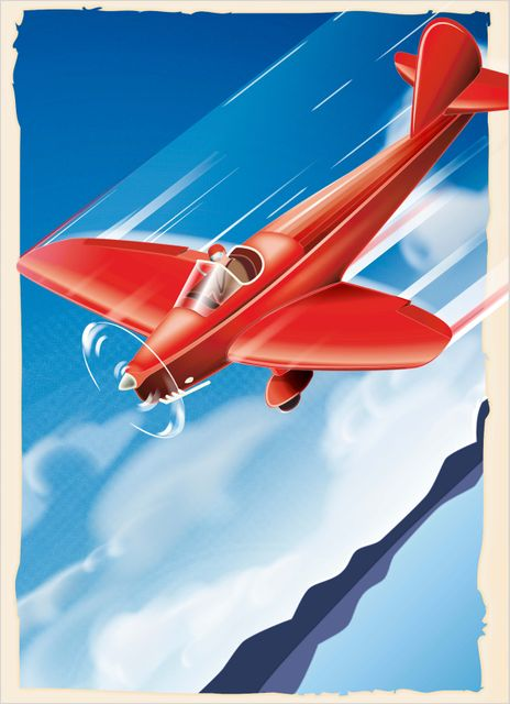 Retro airplane poster