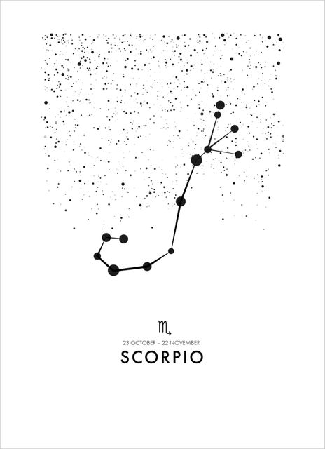 Poster skorpionen/Scorpio poster